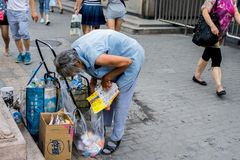 Biedna stara kobieta Zdjęcia Stock