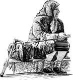 biedna stara kobieta Fotografia Stock