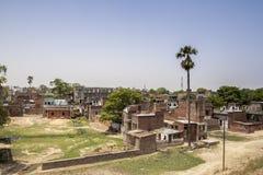 Biedna wioska blisko syna Nagar staci kolejowej Bihar indu Obrazy Stock