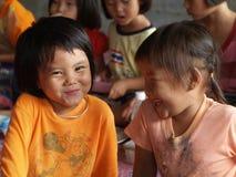 Biedni dzieci, uśmiech Obraz Royalty Free