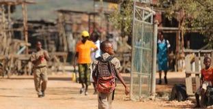 Biedni dziecko w wieku szkolnym Fotografia Royalty Free