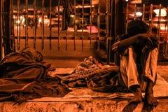Biedni ludzie żyć Zdjęcia Royalty Free