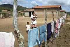 Biedny życie w Nikaraguańskiej wsi obraz stock