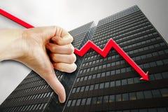 biedny jednostek gospodarczych obraz stock