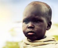 Biedny młode dziecko portret. Tanzania, Afryka Fotografia Stock