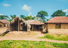 Biedny życie Liberyjscy ludzie Liberia, afryka zachodnia Obrazy Royalty Free