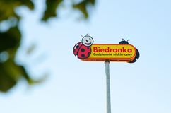 Biedronka ha oltre 2800 depositi in Polonia Fotografia Stock Libera da Diritti