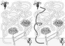Biedronka labirynt royalty ilustracja