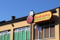 Biedronka livsmedelsbutik Fotografering för Bildbyråer