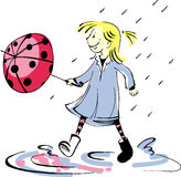 Biedronka parasol Obraz Royalty Free