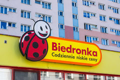Biedronka supermarket Fotografia Royalty Free