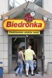 Biedronka Supermarkt Stockfotografie