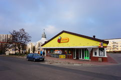 Biedronka-Supermarkt Stockfotos