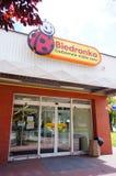 Biedronka-Supermarkteingang Lizenzfreies Stockbild