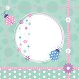 Biedronki kartka z pozdrowieniami Zdjęcie Royalty Free