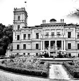 Biedrusko Palace. Artistic look in black and white. Royalty Free Stock Images