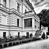 Biedrusko-Palast Künstlerischer Blick in Schwarzweiss Lizenzfreie Stockbilder