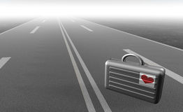 Biefcase sur la route illustration de vecteur