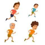 Bieg mężczyzna wektor Zdjęcie Royalty Free