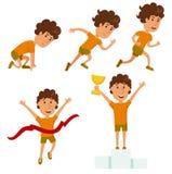 Bieg mężczyzna Działająca rywalizacja Fotografia Stock