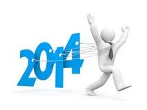 Bieg nowy rok Zdjęcia Stock