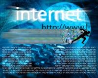 Bieg przez interneta Obrazy Stock