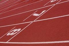 Bieg sportowy ślad Zdjęcia Stock