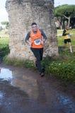 Biegać maraton objawienie pańskie, Rzym, Włochy obraz royalty free