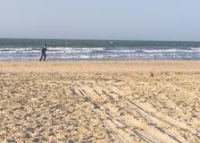 Biegać na plaży Obraz Stock
