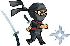 Biegać Ninja gry Sprite również zwrócić corel ilustracji wektora Zdjęcia Royalty Free