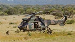 Biegać oddziałów wojskowych Zdjęcia Stock