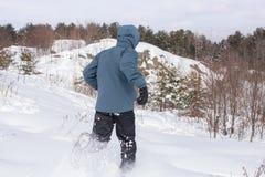 Biegać Przez śniegu Obraz Royalty Free