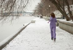 biegałam zima Fotografia Stock