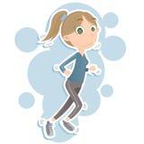 biegałam kobieta Zdjęcie Royalty Free