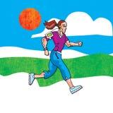 biegałam kobieta Obraz Stock