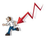 Biegać od niepowodzenia Zdjęcia Stock