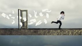 Biegać od rachunków fotografia stock