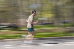 Biegać w centrala parku Zdjęcia Royalty Free