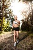 Biegać w lesie Fotografia Stock