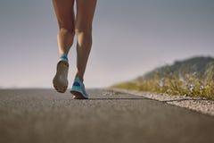 Biegaczów buty i cieki Fotografia Stock