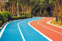 Biegaczów i cyklistów ślada Zdjęcie Stock