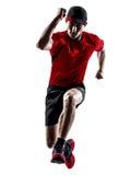 Biegaczów joggers biega jogging skokowe sylwetki obrazy royalty free