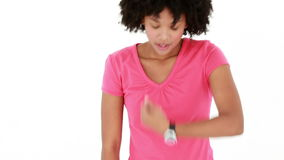 Biegacz bierze głębokiego oddech przed utrzymywać up zbiory