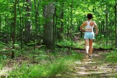 biegacz dojrzała kobieta Fotografia Royalty Free