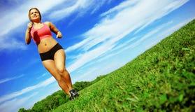 biegacz kobieta Obrazy Royalty Free