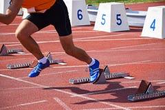 Biegacz na działającym śladzie Obraz Royalty Free