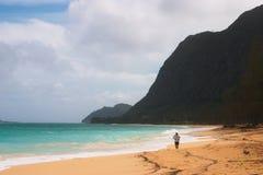 biegacz na plaży Zdjęcia Royalty Free
