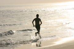 biegacz na plaży Obrazy Royalty Free