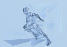 biegacz również zwrócić corel ilustracji wektora Obrazy Stock