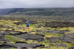 Biegacz - sporta bieg mężczyzna w śladu bieg Obraz Royalty Free